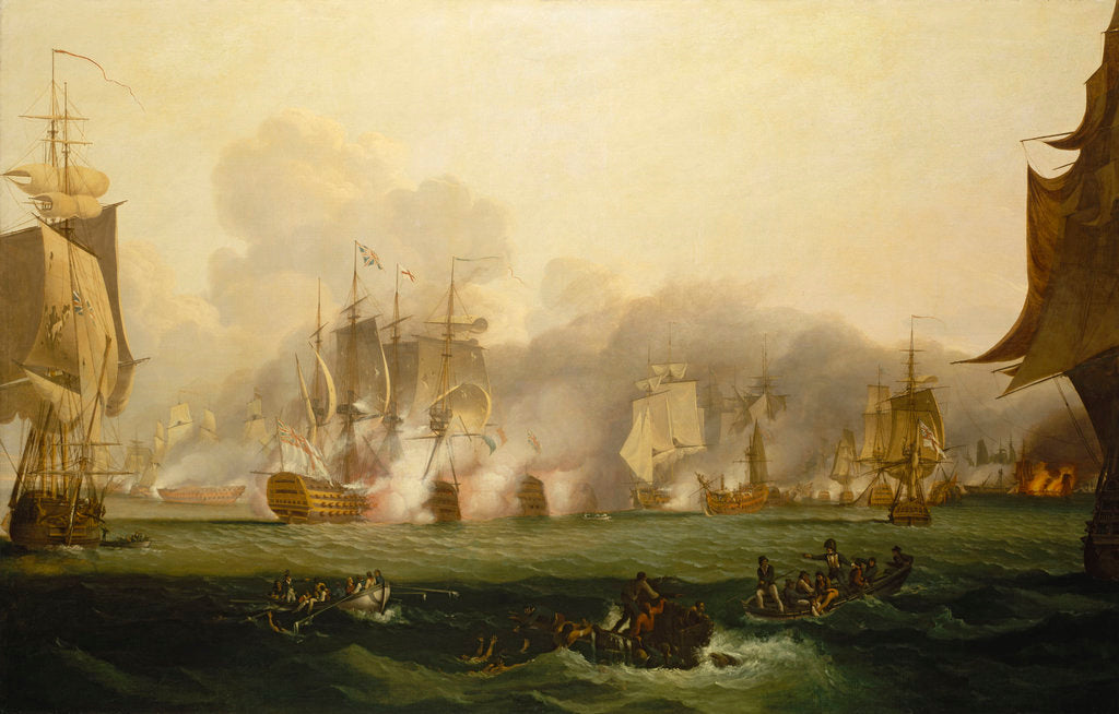 Detail of The Battle of Trafalgar, 21 October 1805 by Samuel Drummond