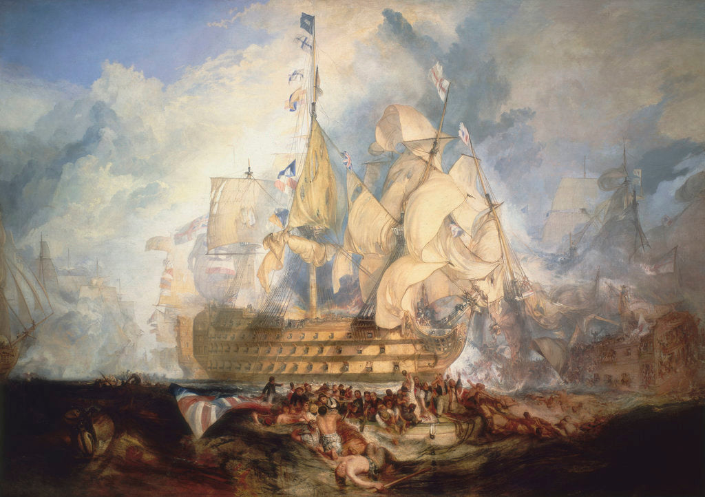 Detail of The Battle of Trafalgar, 21 October 1805 by Joseph Mallord William Turner