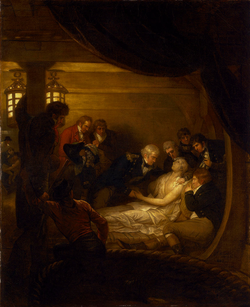 Detail of The death of Lord Nelson in the cockpit of the ship 'Victory' by Benjamin West