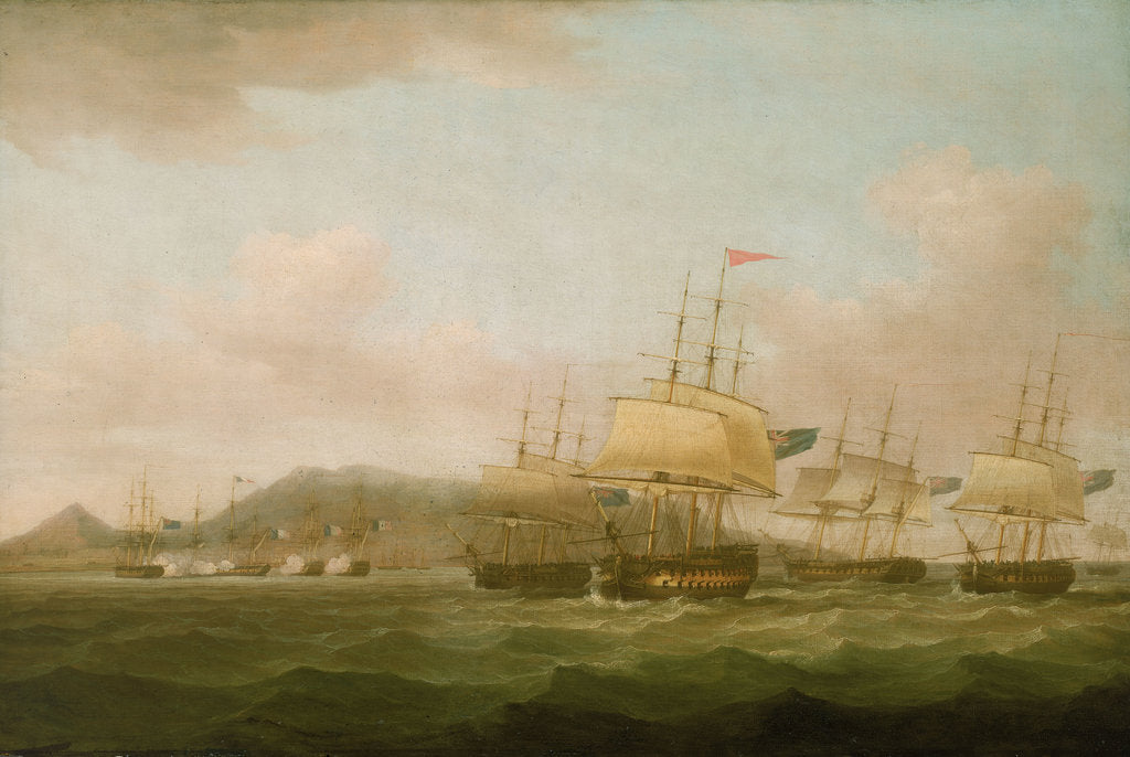 Detail of The capture of Saint Paul near the Isle de Bourbon, 21 September 1809 by Thomas Whitcombe