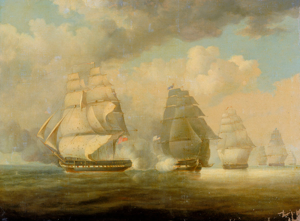 Detail of Escape of HMS 'Belvidera', 23 June 1812 by William John Huggins