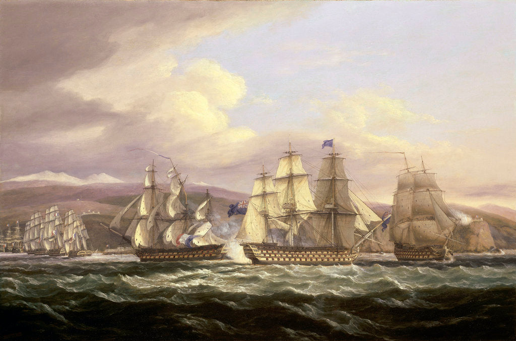 Blockade of Toulon, 1810-1814: Pellew's action, 5 November 1813 by Thomas Luny