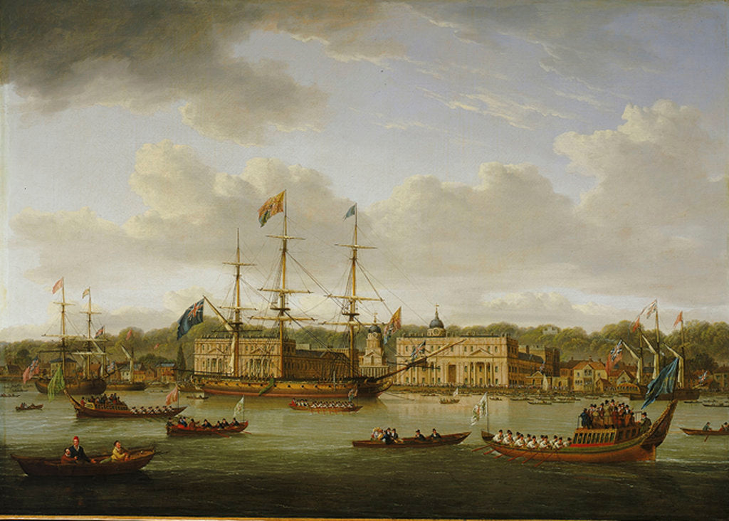 The return of George IV to Greenwich from Scotland, 10 August 1822 by William Anderson