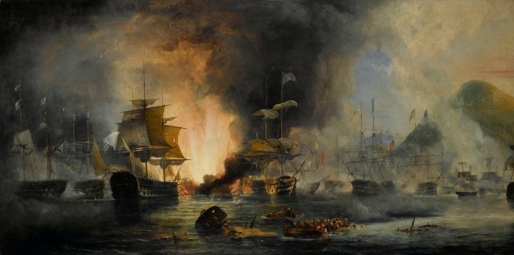 Detail of The Battle of Navarino, 20 October 1827 by George Philip Reinagle