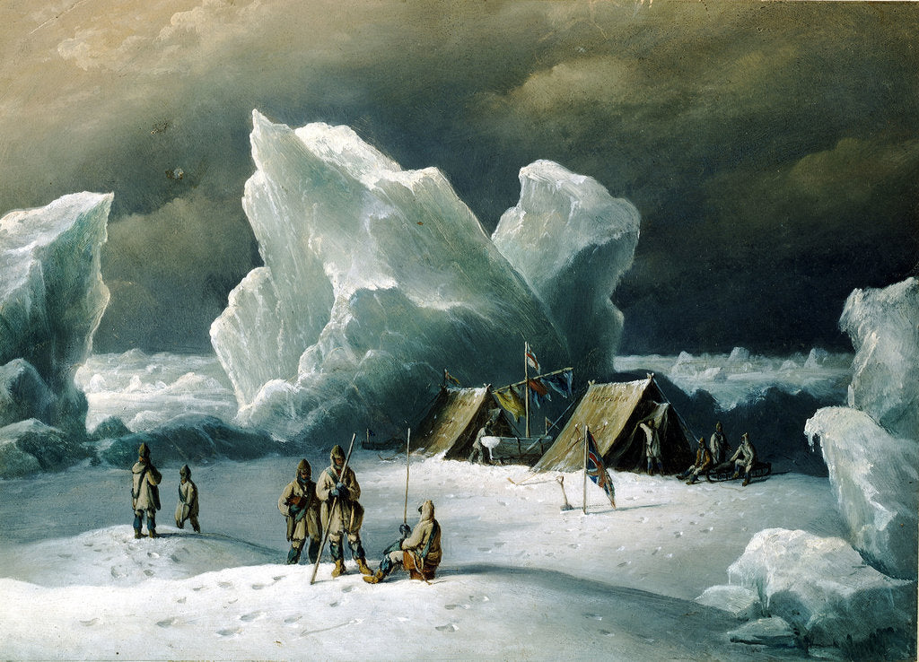Detail of Captain Markham's most northerly encampment by Richard Brydges Beechey