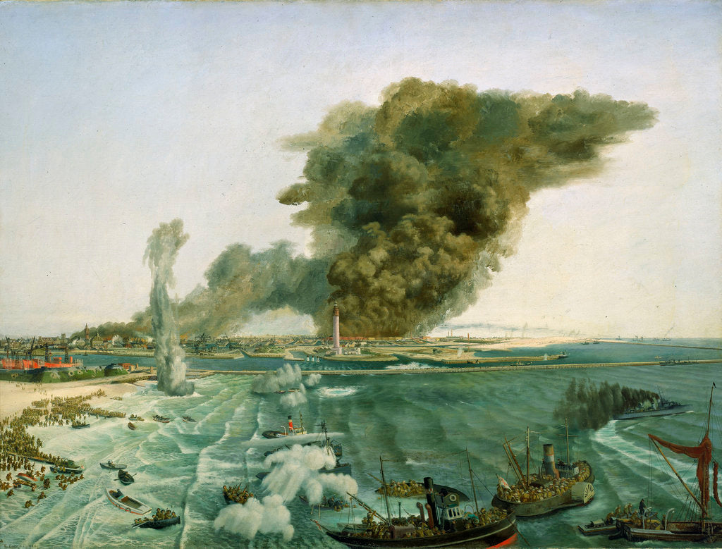 Detail of Withdrawal from Dunkirk, June 1940 by Richard Ernst Eurich