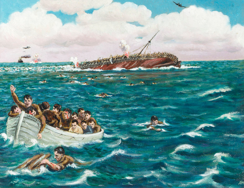 Detail of Sinking of the 'Lancastria', 17 June 1940 by Robert W. May