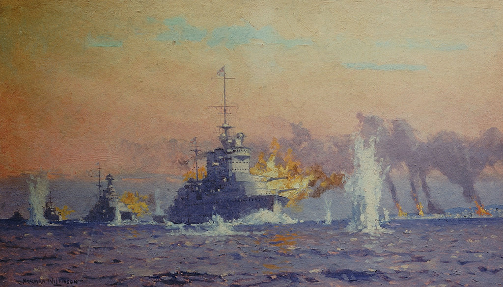 Detail of Bombardment of Genoa, 9 February 1941 by Norman Wilkinson