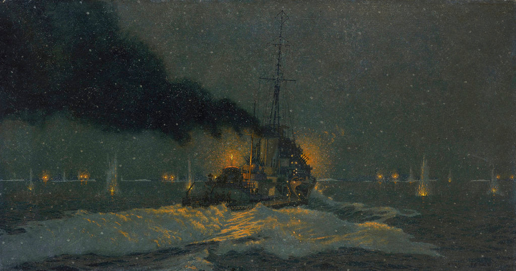 Detail of Captain Sherbrook's Action, 31 December 1942 by Charles Pears