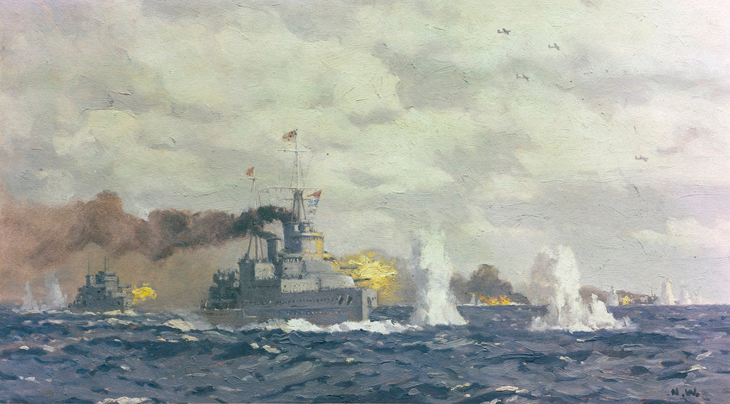 Detail of The Battle of the Bay of Biscay, 28 December 1943 by Norman Wilkinson