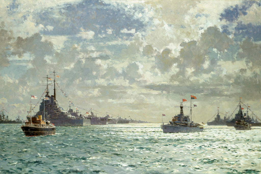 Detail of Coronation review, 15 June 1953 by Norman Wilkinson