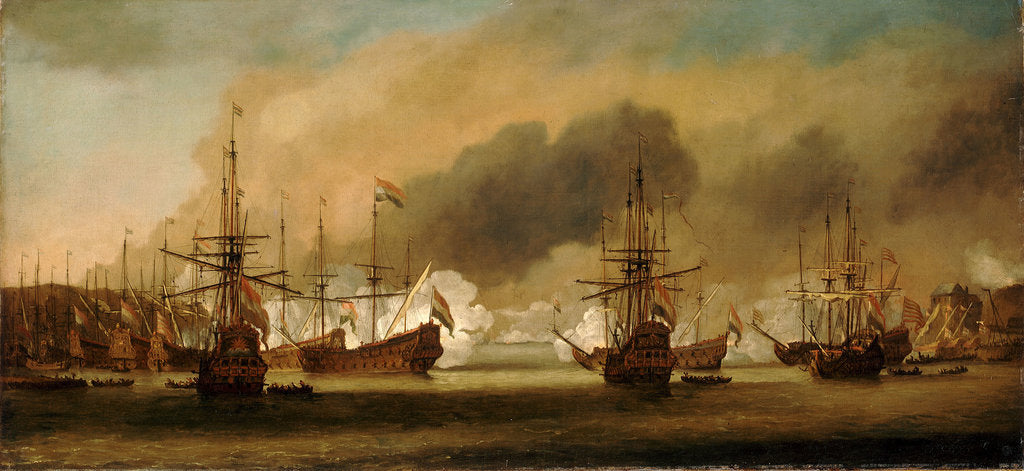 Action at Bergen, 3 August 1665 by Willem Van de Velde the Younger
