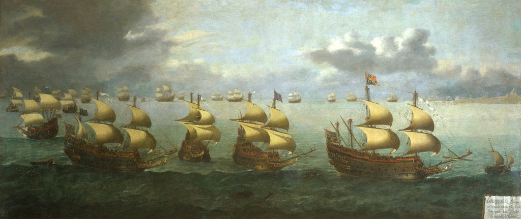 Detail of The return of Prince Charles from Spain, 5 October 1623 by Hendrick Cornelisz Vroom