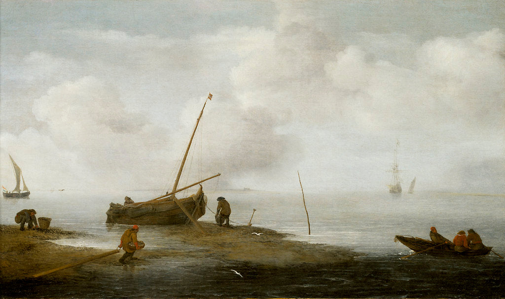Detail of Mussel fishing by Jan Porcellis