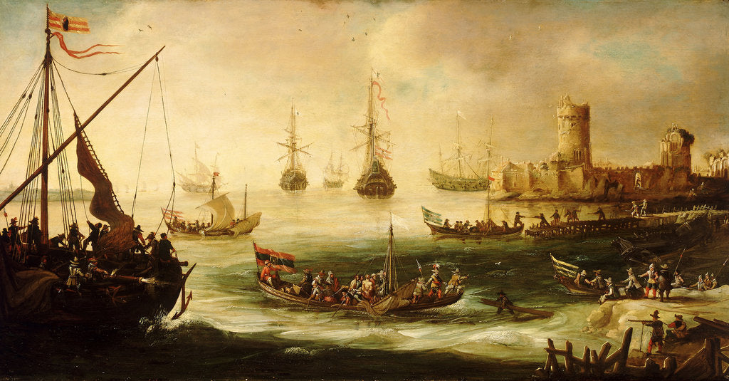 Detail of The return of a Spanish expedition by Andries van Eertvelt