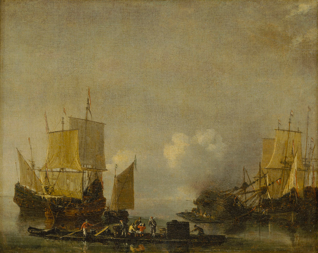 Detail of Ships being repaired by Reinier Nooms