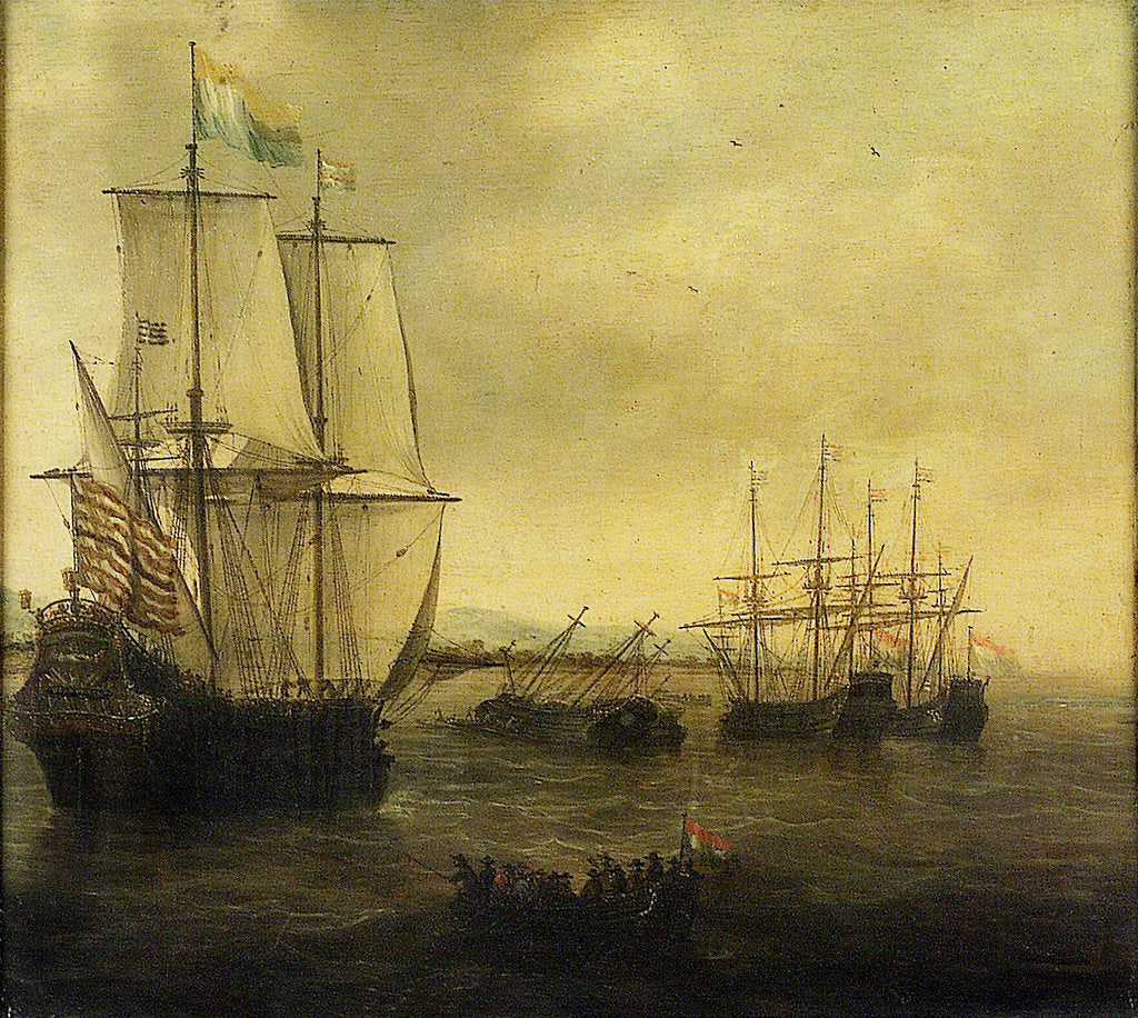 Detail of The Dutch ship 'Eendracht' by Jacob Adriaensz Bellevois