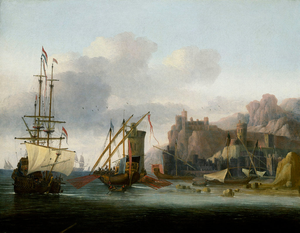 Detail of Shipping in the Bosporus by Jan Jacobsz van der Croos