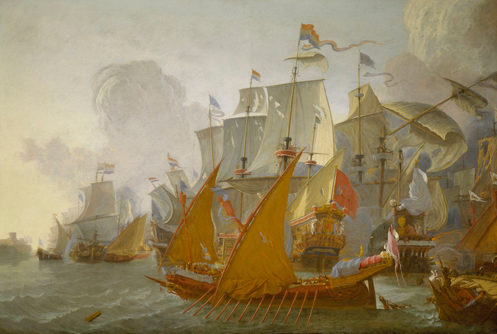 Detail of Action between the Dutch fleet and barbary pirates by Lieve Pietersz Verschuier