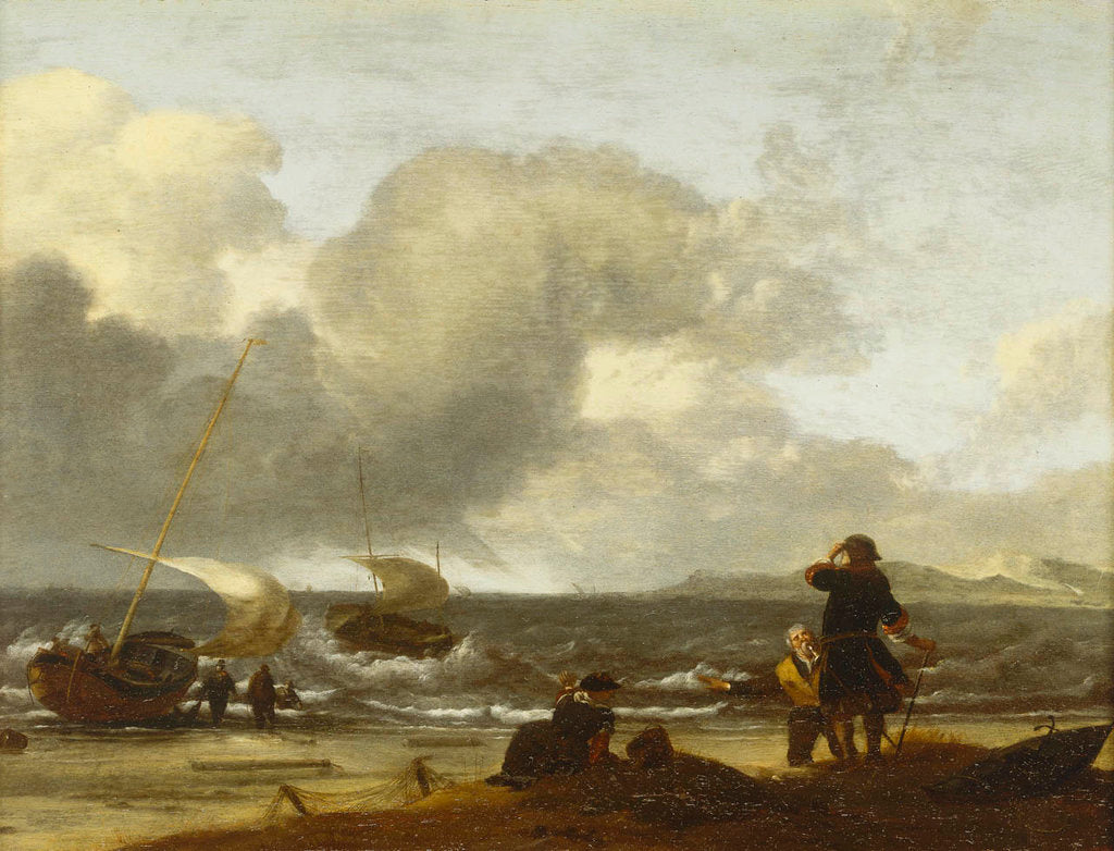 Detail of A windy day on the Dutch coast by unknown