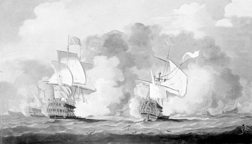 Detail of Action between English and French ships by unknown