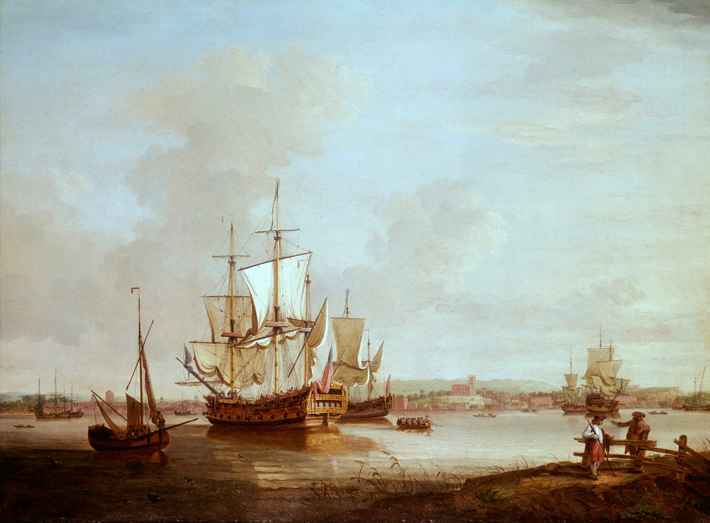 Detail of Shipping off Woolwich by Thomas Mellish