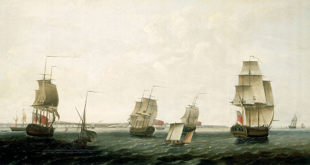 Detail of Ships off Dover by Francis Holman