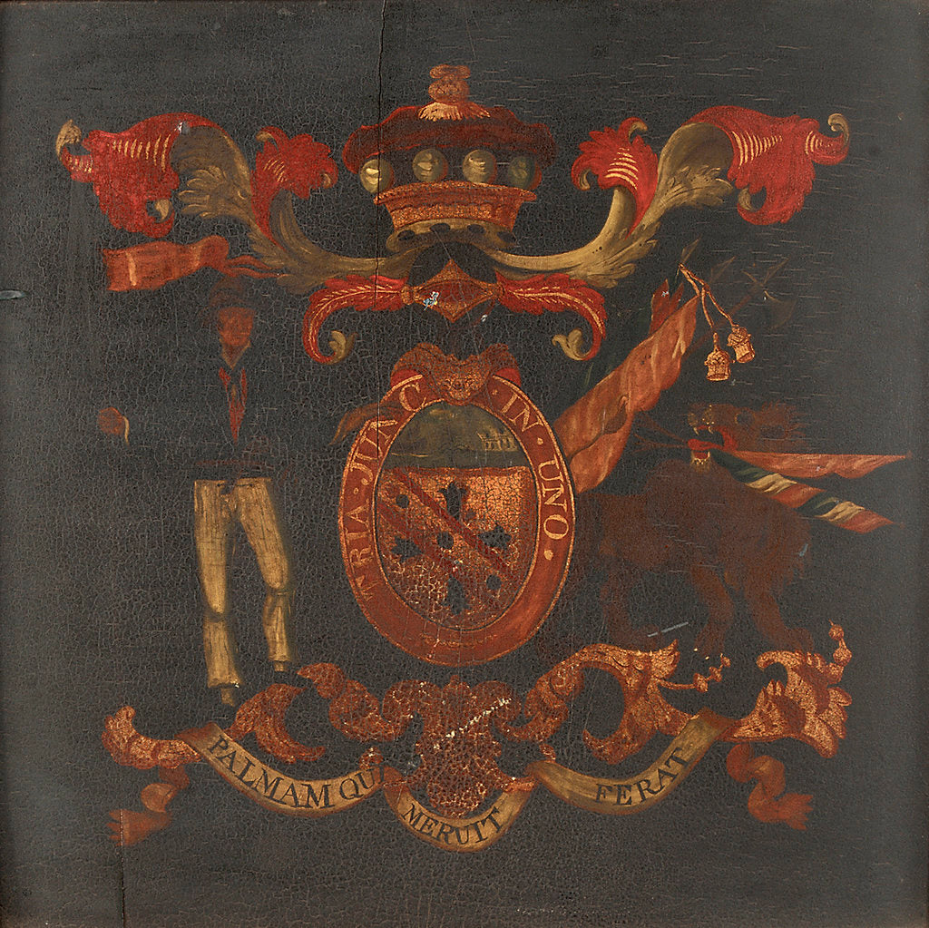 Detail of Nelson's coat of arms by British School