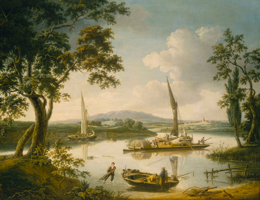 Detail of The Thames at Shillingford by John Thomas Serres