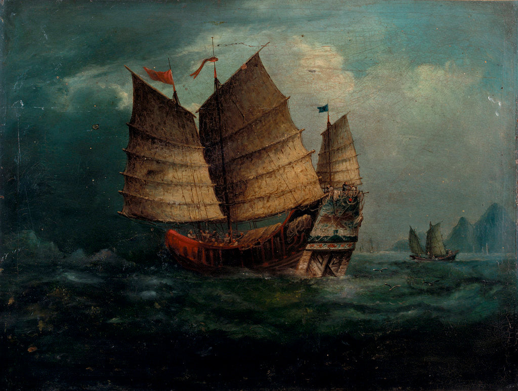 Detail of Chinese junks by George Chinnery