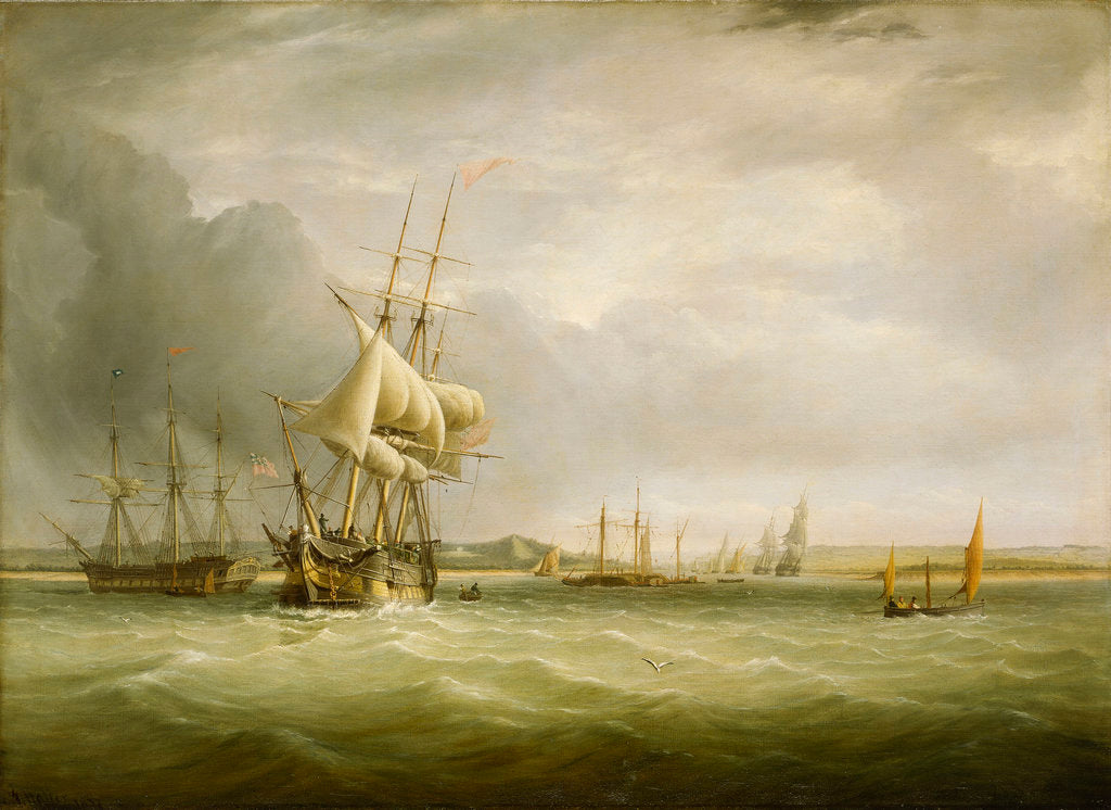 Detail of Shipping in the Bristol Channel by Joseph Walter