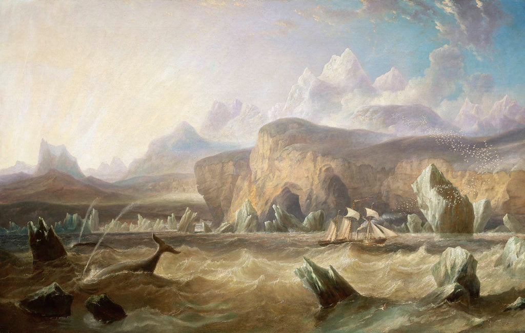 Detail of A whaler off a mountainous coast by John Wilson Carmichael
