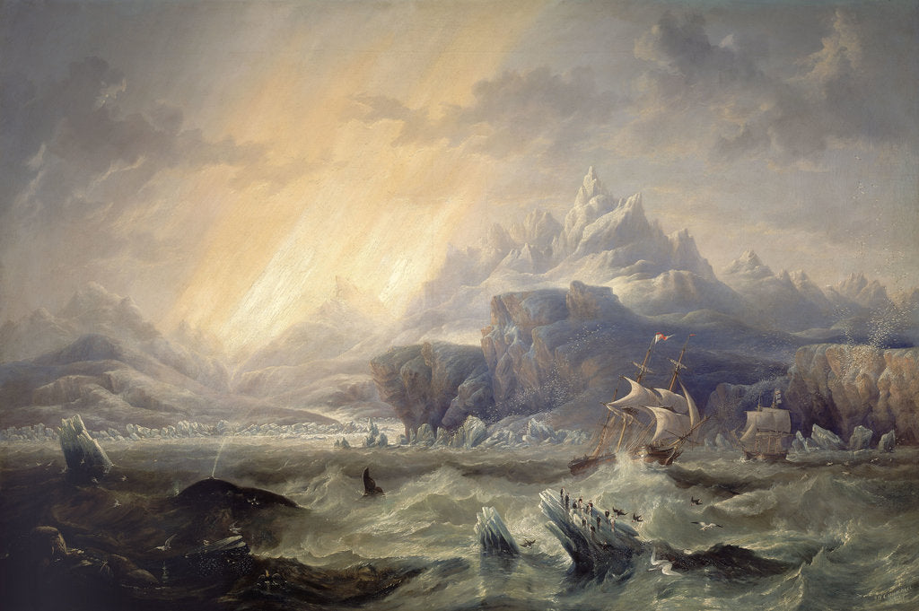 Detail of HMS 'Erebus' and 'Terror' in the Antarctic by John Wilson Carmichael
