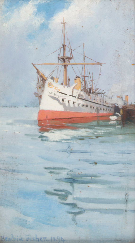 Detail of An Indian troopship by Beatrix Fisher