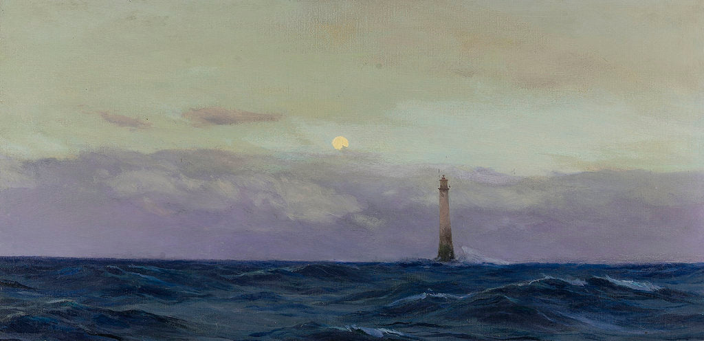 Detail of The Wolf Rock lighthouse by John Fraser