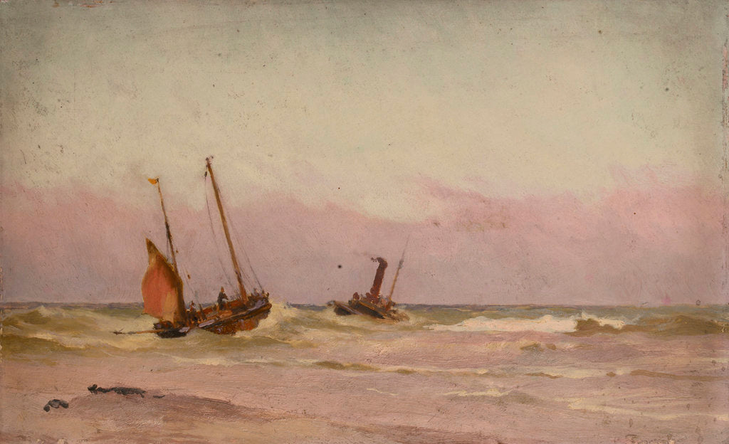 Detail of Fishing boats by John Fraser
