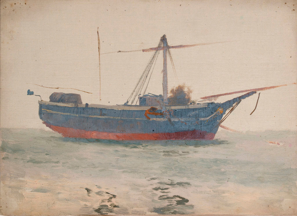 Detail of A fishing boat by John Fraser