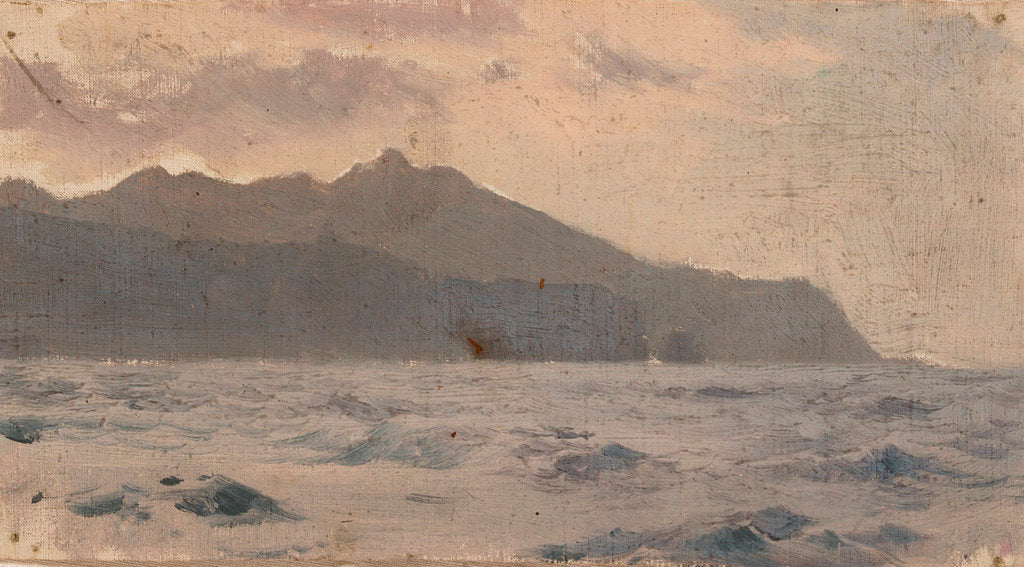 Detail of Mountains and sea by John Fraser