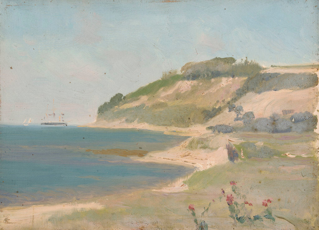 Detail of A coastal scene by John Fraser
