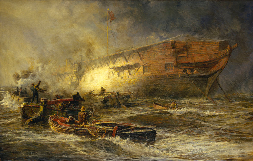 Detail of Storm and sunshine: A battle with the elements by William Lionel Wyllie