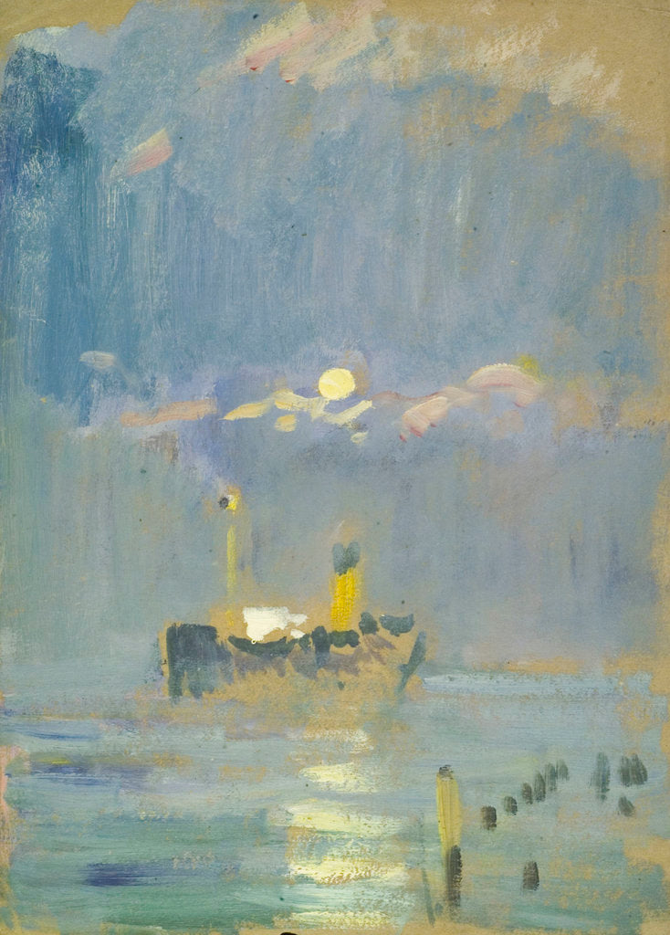 Detail of A ship in the moonlight by John Everett