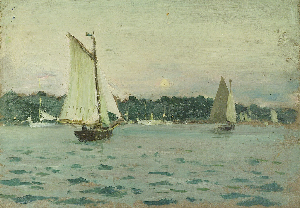 Detail of Yachting at Cowes by John Everett