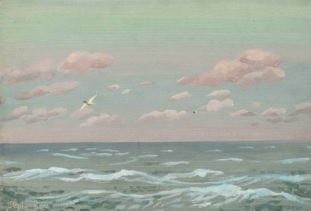 Detail of Sunrise at sea by Stephen Bone