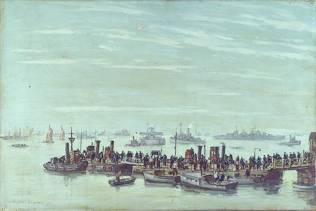 Detail of Liberty boats at Sheerness by Charles Cundall