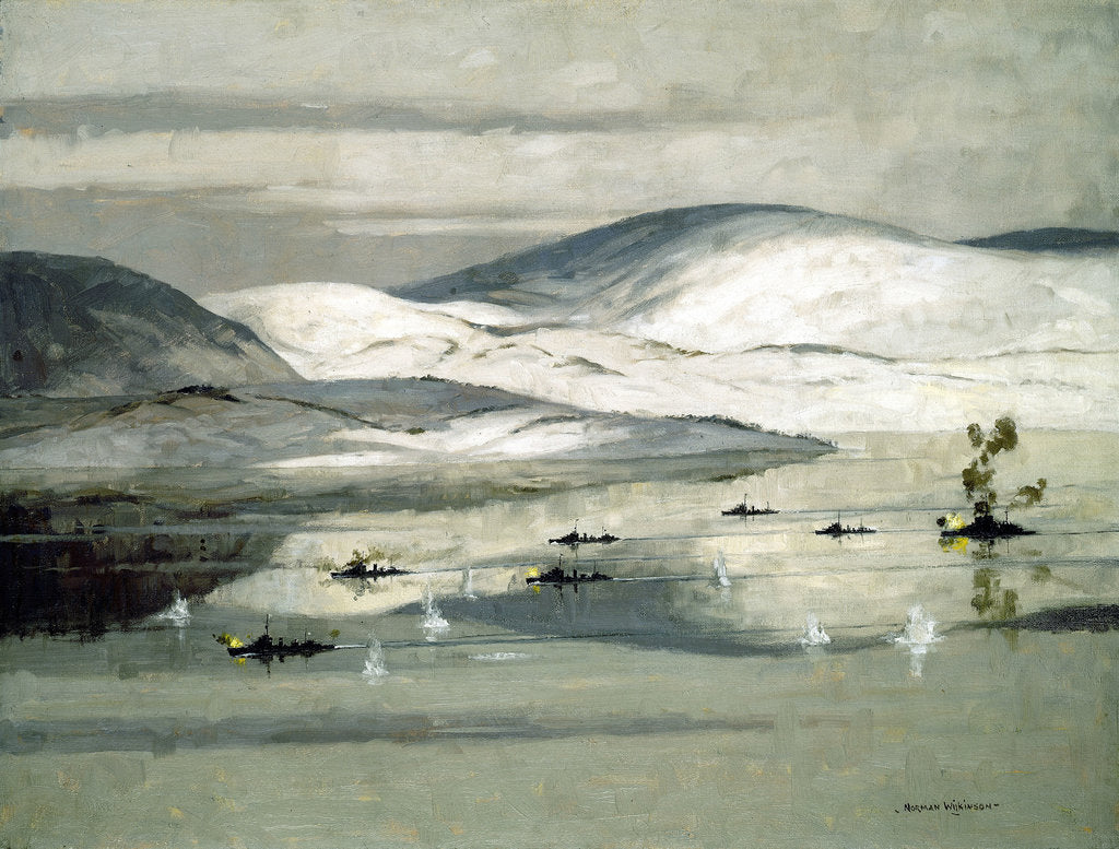Detail of The second battle of Narvik, 13 April 1940 by Norman Wilkinson