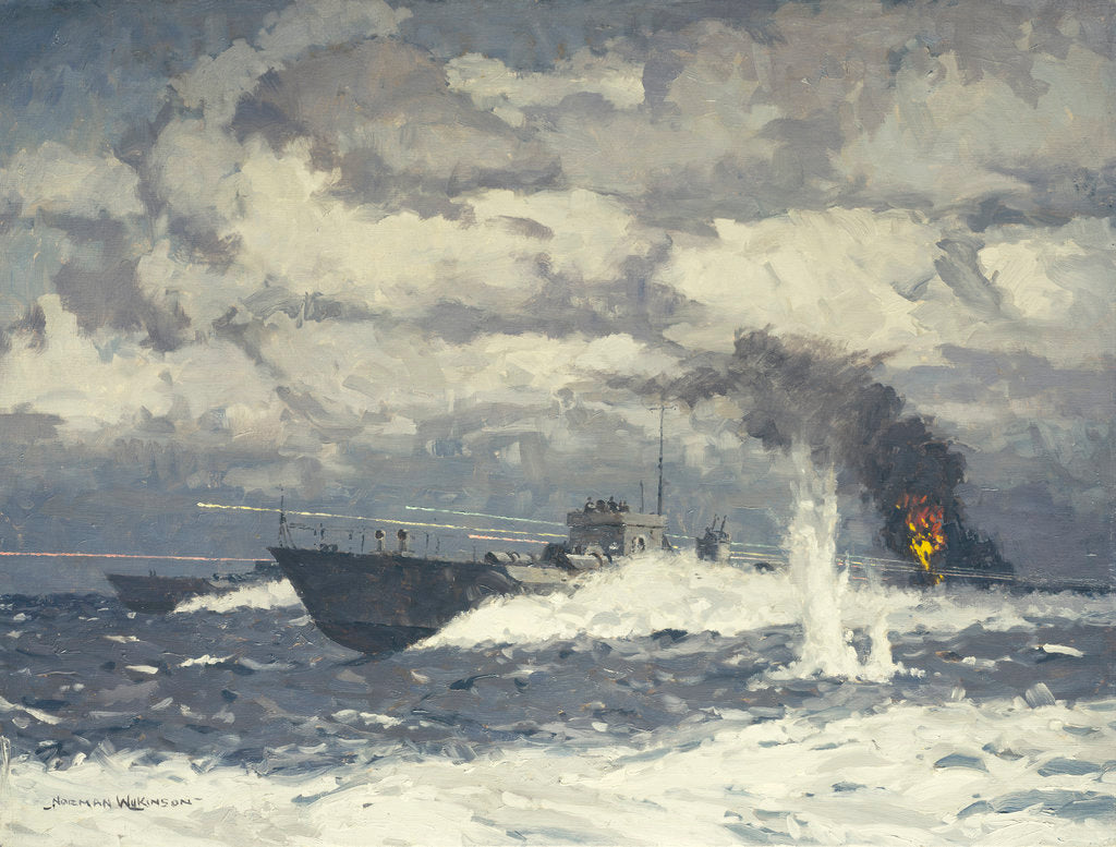 Detail of Motor torpedo boats by Norman Wilkinson