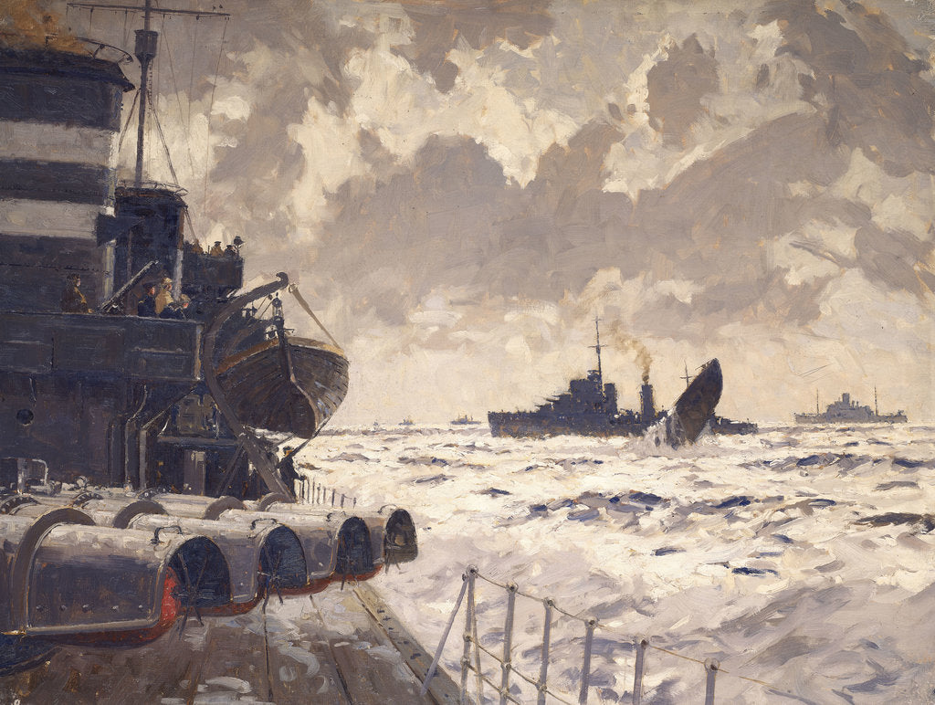Detail of End of a U-boat by Norman Wilkinson