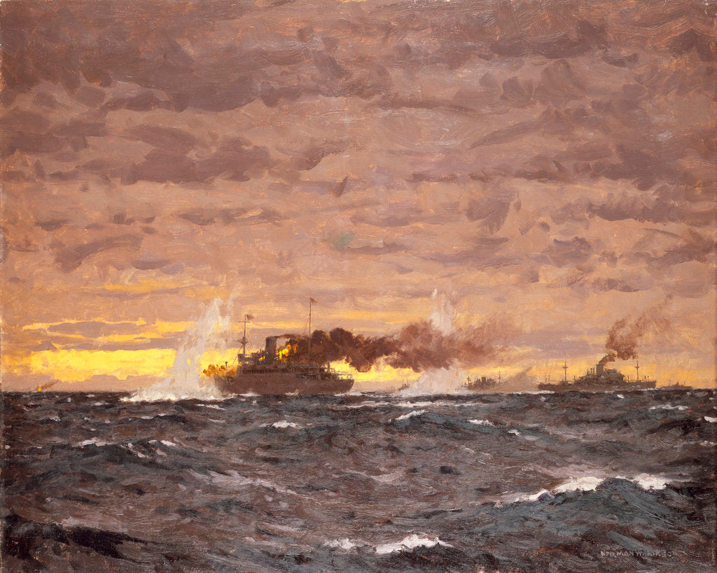 Detail of The Jervis Bay action, 5 November 1940 by Norman Wilkinson