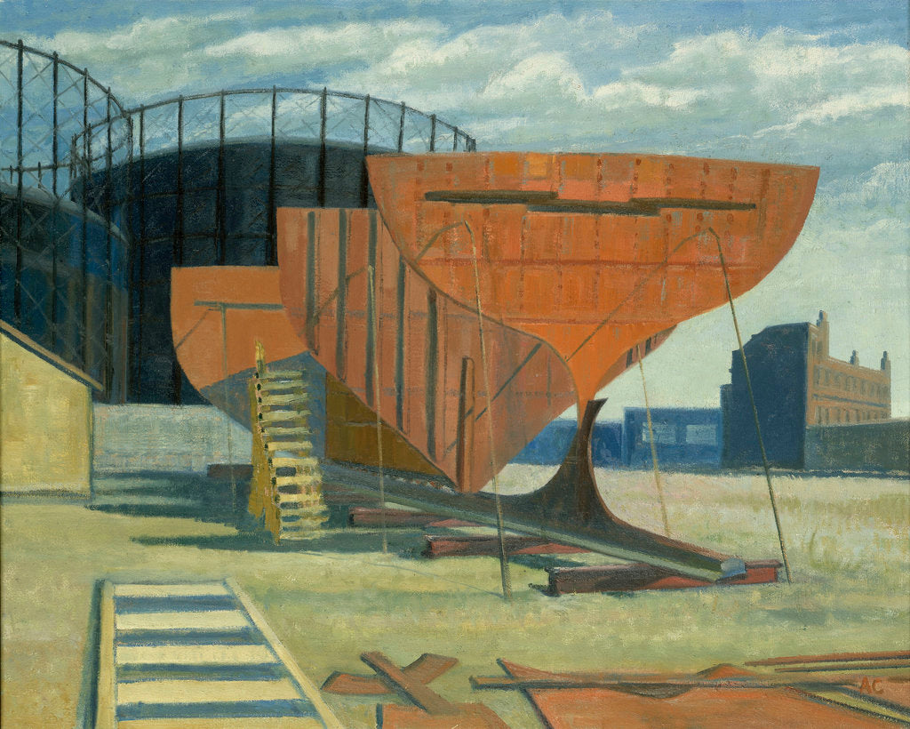 Detail of Shipbuilding at Greenwich by Anne Christopherson