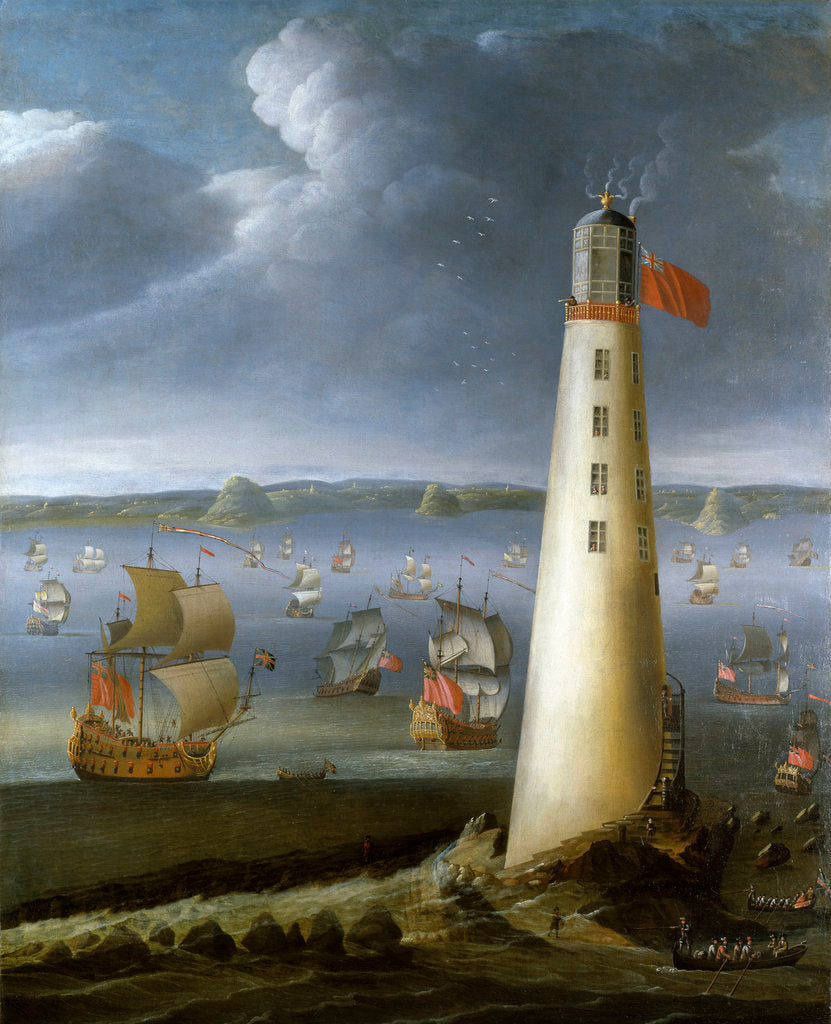Detail of Eddystone lighthouse by Isaac Sailmaker